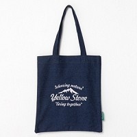 [옐로우스톤] 데님 에코백 denim eco bag - ys2015dn 네이비 폰트