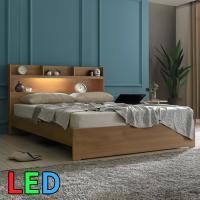 모델하우스 LED조명 침대 퀸 KC149