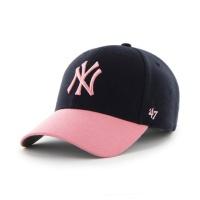 MLB모자 뉴욕 양키즈 네이비핑크 스트럭처