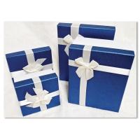 홀마크 리본 선물포장상자 4종세트-블루