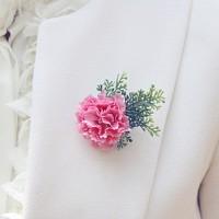 얼반카네이션 브로치 (Limited UB-Carnation 빈티지패션 부토니에 핑크 레드)