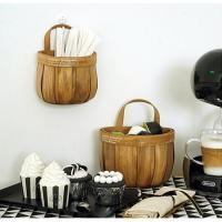 빈티지 대나무 바스켓 대 1개(색상랜덤)