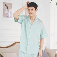 [쿠비카]테디 도트 팬츠7부 반팔 남성잠옷 M020
