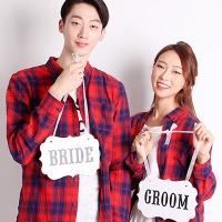 웨딩촬영 행거세트 (BRIDE/GROOM) 화이트
