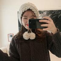 콩콩 방울 포인트 러블리 보닛 겨울 니트모자