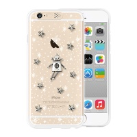 [SG DESIGN] iPhone6/6S SG Lighting Clear Hand-made Case - Clear Space robot (Vintage)