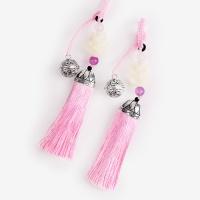 [인디고샵] 방울 장식 산호색 전통 매듭 노리개