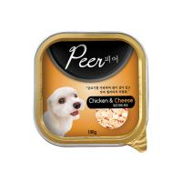 Peer(피어 사각캔)-닭고기와치즈 1BOX/24ea