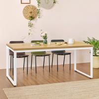 홈 카페 6인용 식탁테이블 800x1800 사각다리