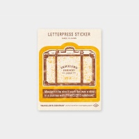 [Travel Tools Collection]LetterpressSticker옐로우