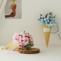 목화솜사탕 아이스크림콘 꽃다발 [4color]