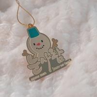 한글 크리스마스 금장 트리 장식 책갈피 5종세트 (24K G/P)