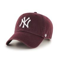 MLB모자 뉴욕 양키즈 다크마룬 화이트빅로고