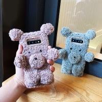 갤럭시노트8 귀여운 곰돌이 인형 뽀글이 털 폰케이스