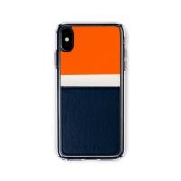 스매스 아이폰XR/XS MAX 보호 카드케이스 씨원_네이비/오렌지
