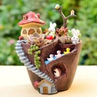 ROOGO 루고화분 집에가는길 꽃밭화분 버섯 지붕집