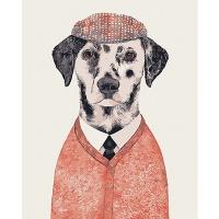 DIY 명화그리기키트 - 달마시안 화가 40x50cm (물감2배, 컬러캔버스, 명화, 동물, 개, 화가, 달마시안)
