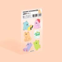 모트모트 포켓 스티커 - 곰돌이 no.3