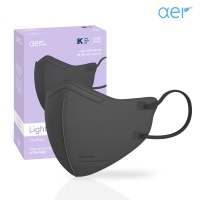 아에르 라이트핏 KF94 보건용 마스크 블랙 30매