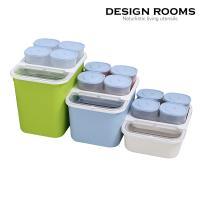 심플 오픈형 쌀통(소)3kg(크림,블루,그린)/잡곡통4P