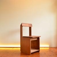 [리우목공방] 라마 등받이 수납 의자