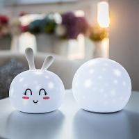 실리콘 LED무드등 LML-SR05 인테리어 조명 취침등 (토끼, 원)