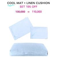 COOL MAT+LINEN CUSHION SET_LIGHT BLUE