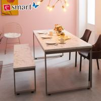 스틸마블 6인용 식탁테이블 1600x800+벤치의자세트