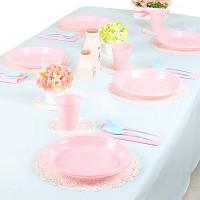파티테이블셋팅패키지(10인용)-라이트블루&핑크