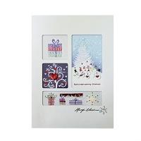 크리스마스카드/성탄절/트리/산타 x-mas 눈사람 음악대 card (FS201-2)