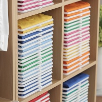 [마이티앤트레이] 깔끔한 옷장을 위한 옷정리 트레이 + 폴더 30,60,90set