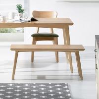 [에인하우스] 케인스 원목 벤치 의자