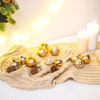 크리스마스 트리 장식 오너먼트 세트 로즈 골드
