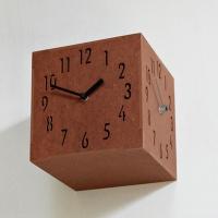 (ktk087)칼라우드 3면시계 브라운
