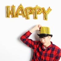 이니셜은박풍선 HAPPY (골드)