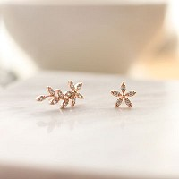 flower wave earring