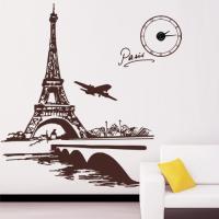 ph100-에펠탑과 세느강 시계(중형)_그래픽시계