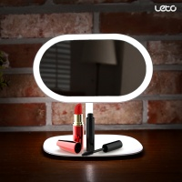 뷰티 LED 화장거울 LLM-C01 탁상거울 무드등 조명