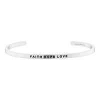 [만트라뱅글] FAITH HOPE LOVE - 실버
