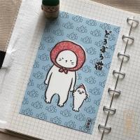 도로보우네코 도둑 고양이의 비밀 일러스트 엽서