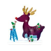 크리스마스 카드-마법의 루돌프
