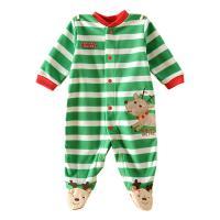 산타의도우미 줄무늬 발싸개 우주복(0-12개월)203457