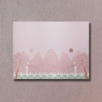 전통 명화 일월오봉도 꽃분홍색 메모지