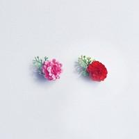 미니카네이션 브로치 2in1 (Limited MN-Carnation 빈티지부토니에 핑크 레드)