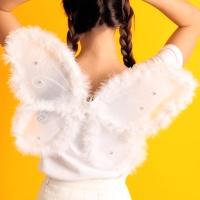 러블리 솜털 나비날개 (화이트)