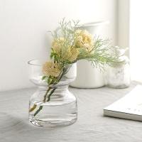 더블 절구 투명 유리꽃화병