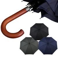 튼튼한장우산 프리미엄 우드그립 남성장우산 장우산