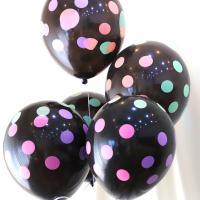 30cm 파티풍선 땡땡이 블랙