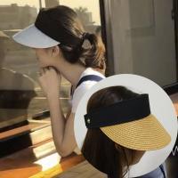 바닐라 밀짚 썬캡 왕골썬캡 여름 필수템