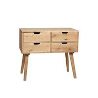 [Hubsch]Dresser w/4 drawers, oak, nature 888011 서랍